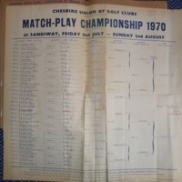1970-Draw for the Matchplay Championship at Sandiway