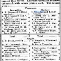 1921-Lancashire v Cheshire