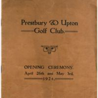 1924 - The opening of Prestbury & Upton G.C.